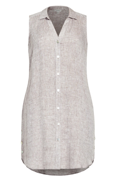Linen Tunic - toffee