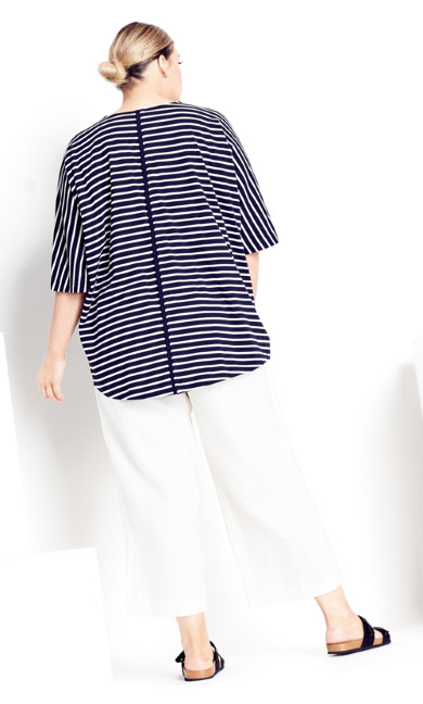 Laney Stripe Tee - navy