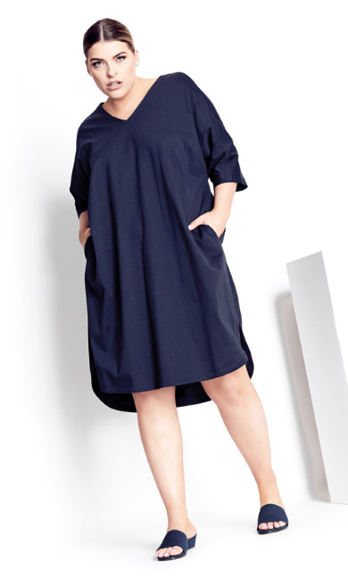 Plus Size Laney Dress - navy