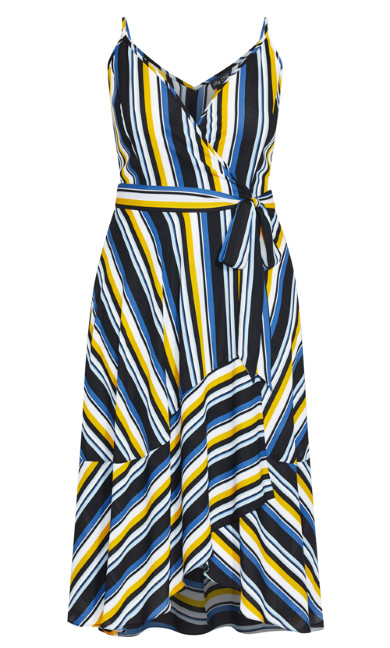 Sol Stripe Dress - lemon