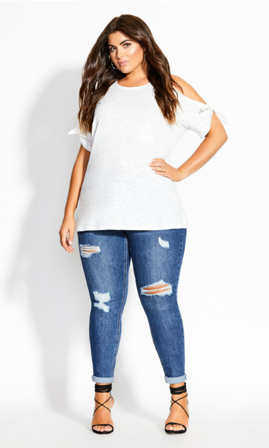 Casual Tie Top - ivory