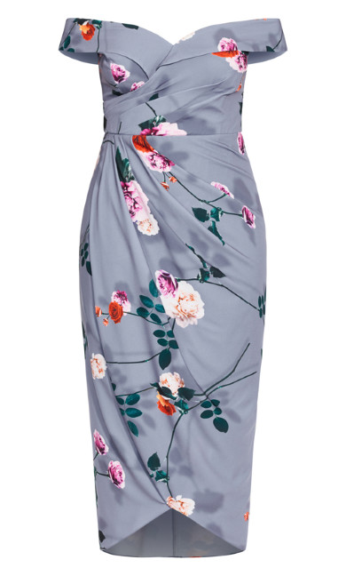 Floral Shadows Maxi Dress - mauve