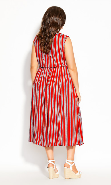 Summer Sunset Stripe Maxi Dress - tigerlily