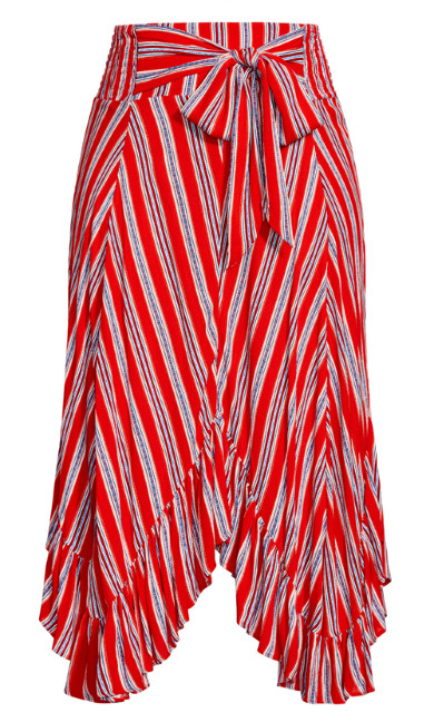 Summer Sunset Stripe Skirt - tigerlily