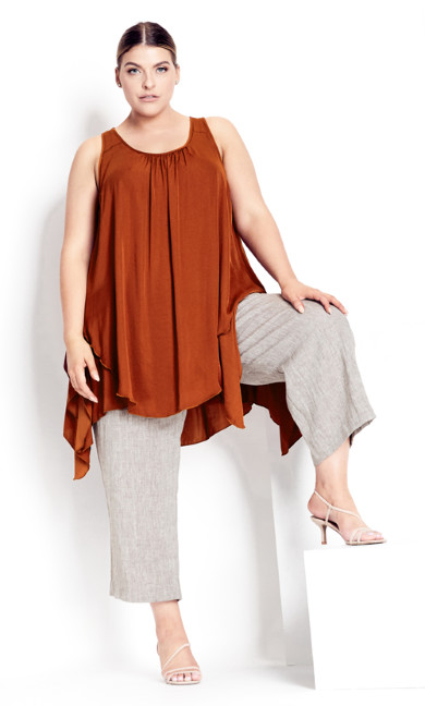 Plus Size Transform Tunic - cinnamon
