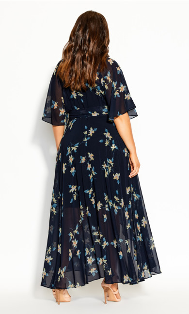 Akita Floral Maxi Dress -  navy