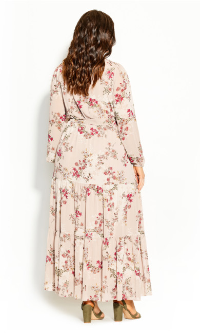 Flower Child Maxi Dress - oatmeal
