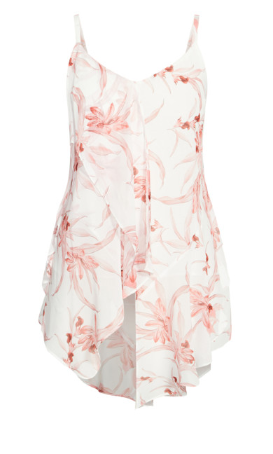 Juno Floral Top - ivory