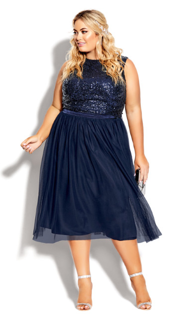Plus Size Tulle Star Skirt - sapphire