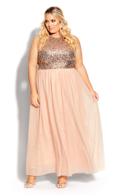 Plus Size Shine Bright Maxi Dress - quartz