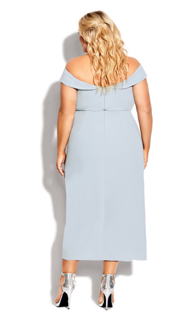 Rippled Love Dress - aquamarine