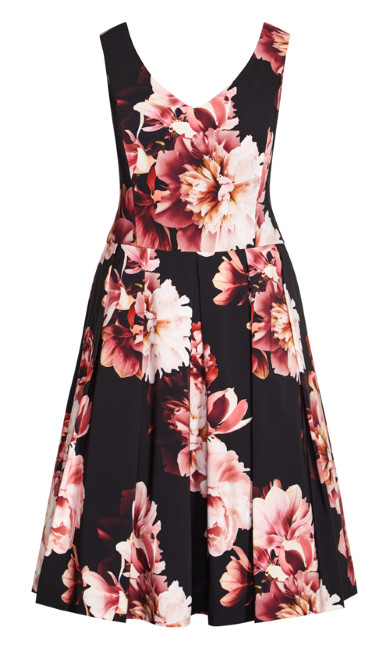 Heavenly Floral Dress - black