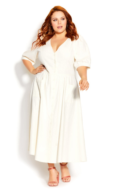 Plus Size Luca Dress - ivory