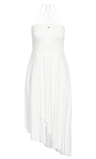 Plait Detail Maxi Dress - ivory