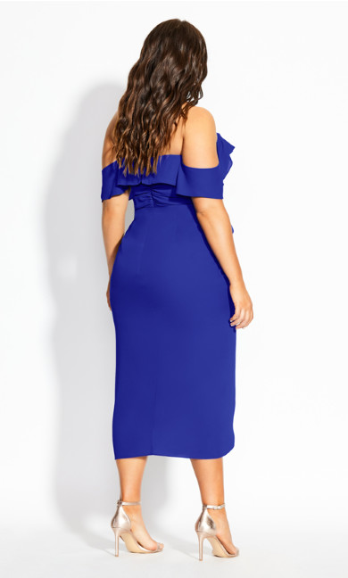 Va Va Voom Dress - cobalt