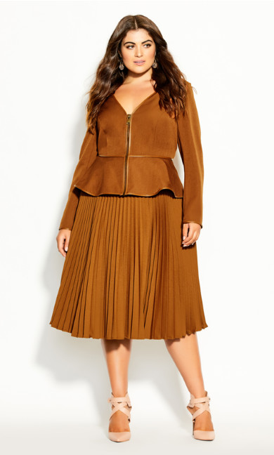 Plus Size Sweet Plunge Jacket - copper