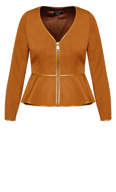 Sweet Plunge Jacket - copper