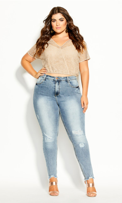 Plus Size Capture Me Top - buff