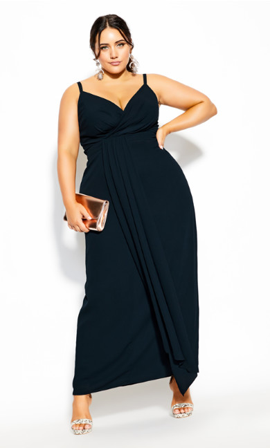 Plus Size So Swish Maxi Dress - navy