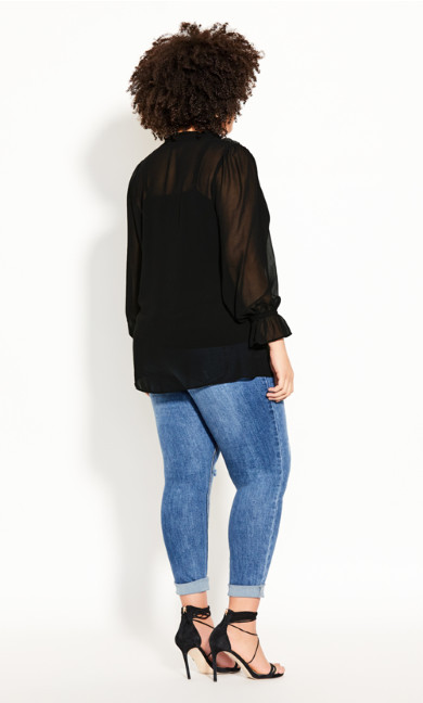 Autumn Escape Top - black