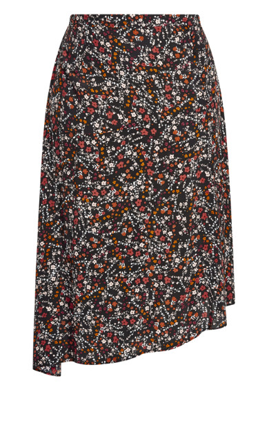 70's Ditsy Skirt - black