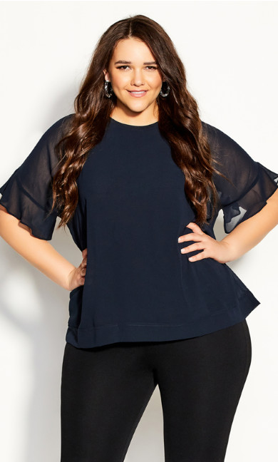 Plus Size Belissima Top - slate