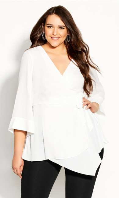 Plus Size Shibara Vibes Top - ivory