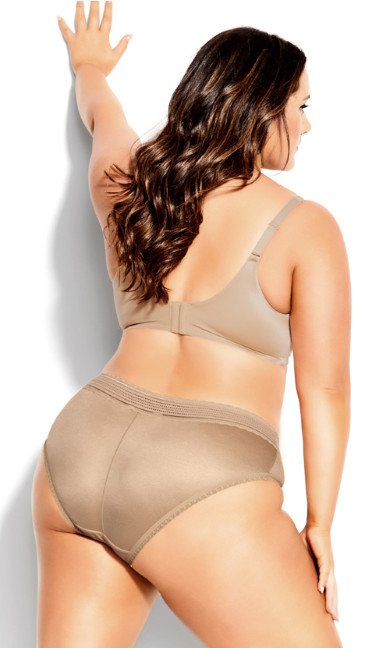 Adore Back Smother Push Up Bra - latte