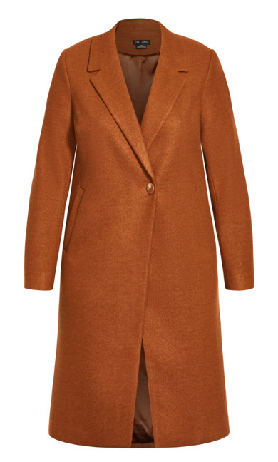 Effortless Chic Coat - ginger