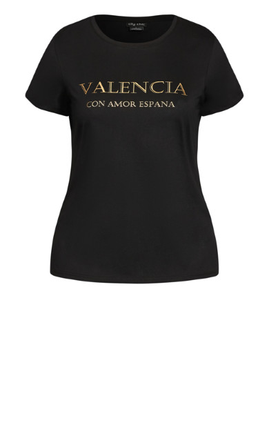 Plus Size Monaco Tee - black
