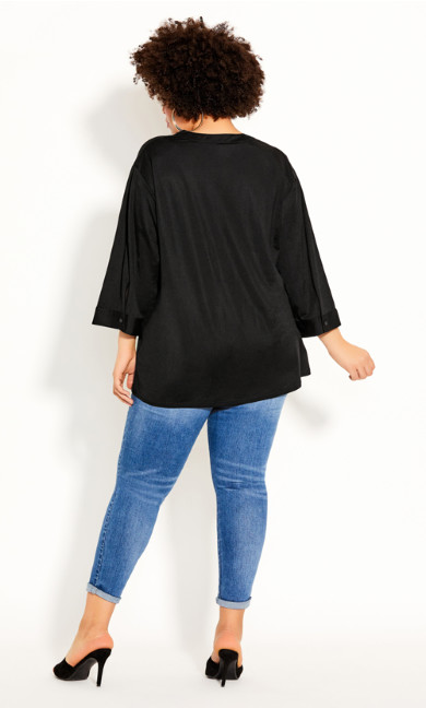Effortless Sleeve Top - black