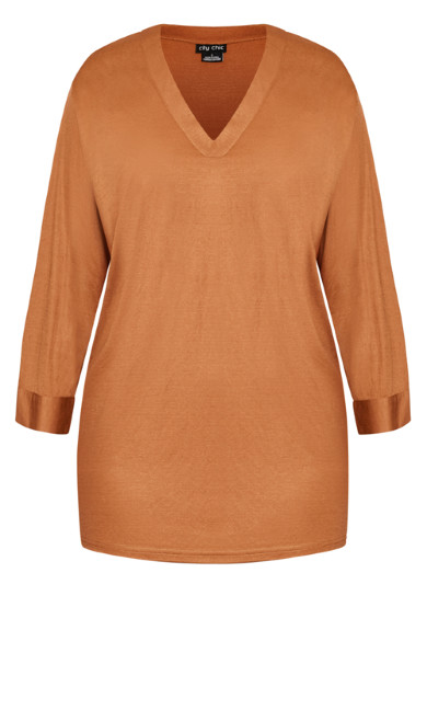 Effortless Sleeve Top - ginger