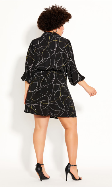Relaxed Tie Dress - black