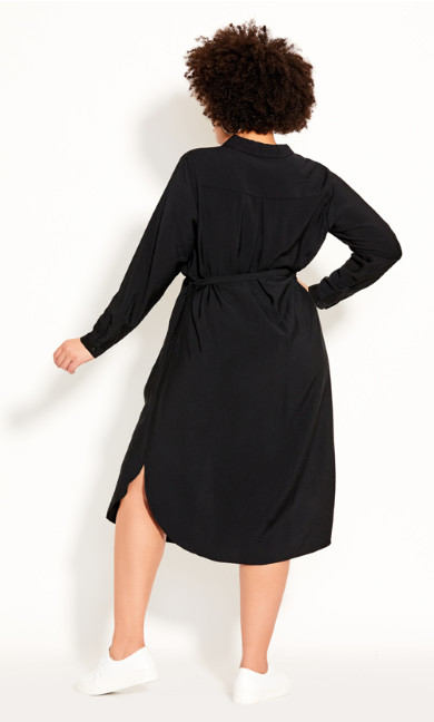 Belted Love Dress - black