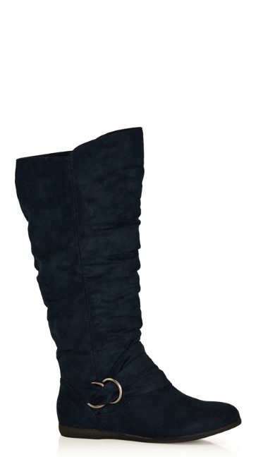 Plus Size Sasha Tall Boot - navy
