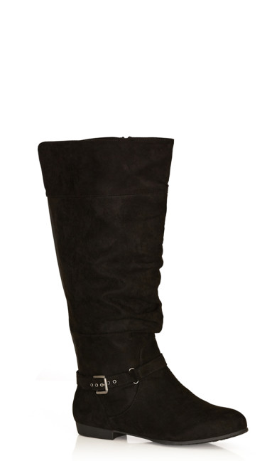Plus Size Beacon Tall Boot - black