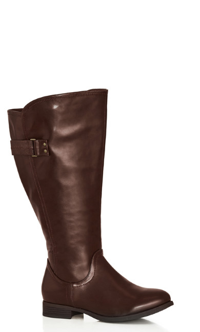 Plus Size Lina Tall Boot - brown