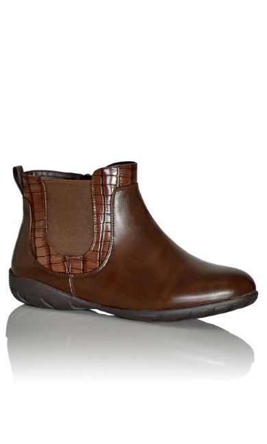Plus Size Chrissy Ankle Boot - brown