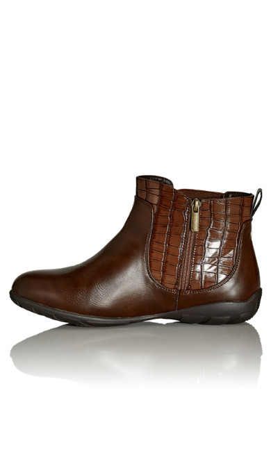 Chrissy Ankle Boot - brown