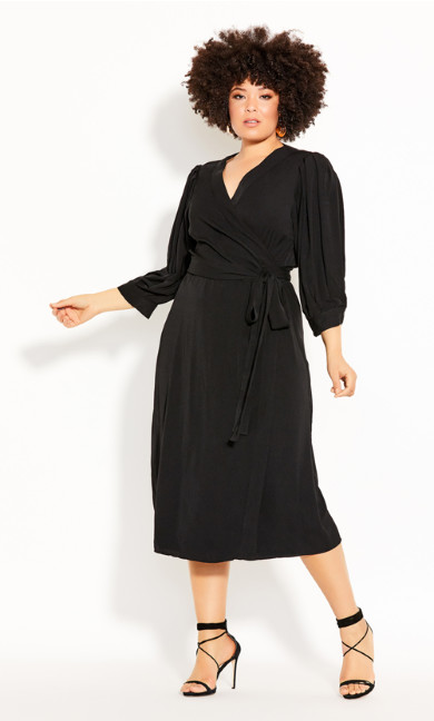Plus Size Sultry Dress - black