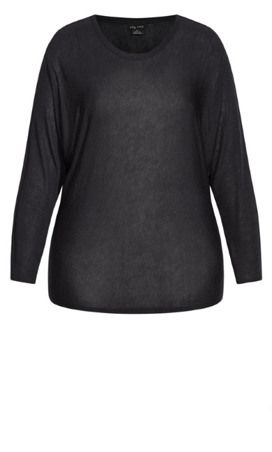 Jade Slinky Top - black