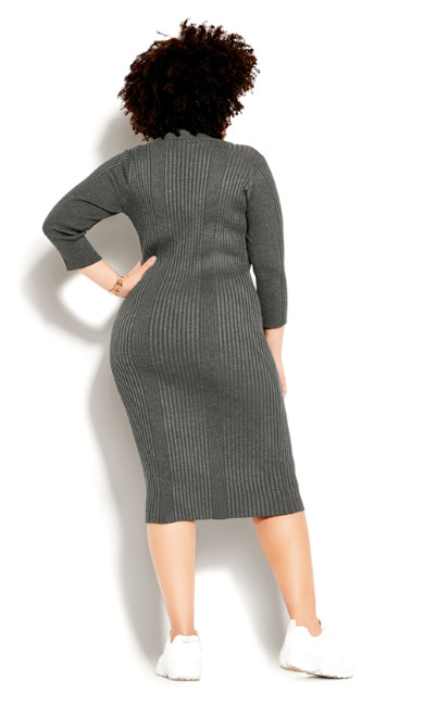 Sweater Dress - charcoal