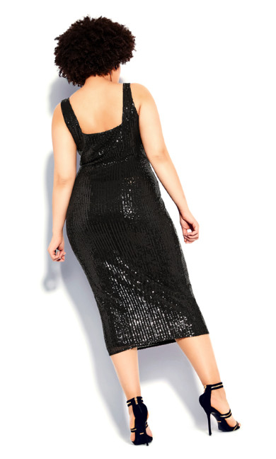 Sexy Sequin Dress - black