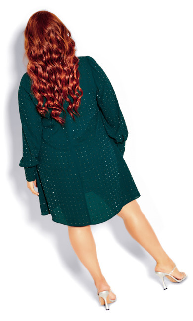 Nailhead Tunic - emerald
