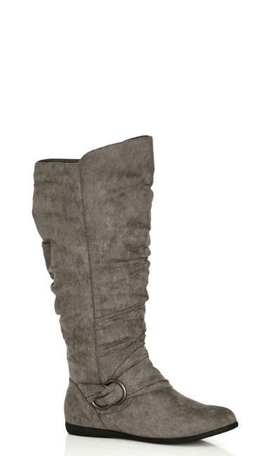 Sasha Faux Suede Ruched Tall Boot
