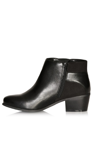 Haley Exposed Zip Ankle Boot - black
