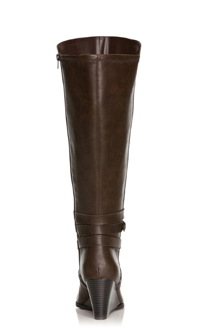 Cora Buckle Accented Riding Boot