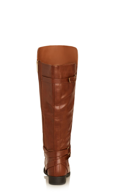 Stella Double Buckle Boot - cognac