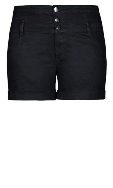 Short Hi Waist Short - black