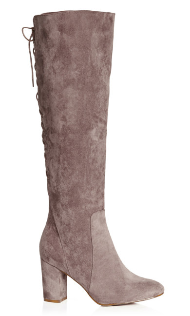 Plus Size Perry Knee High Boot - mushroom